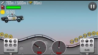 getlinkyoutube.com-Hill Climb Racing 1.14.0 New vehicle:Police car,New level:Rooftops