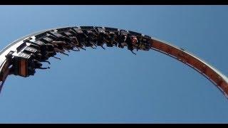 getlinkyoutube.com-Vertigo Roller Coaster POV Schwarzkopf Looping Star Zoomarine Rome Italy