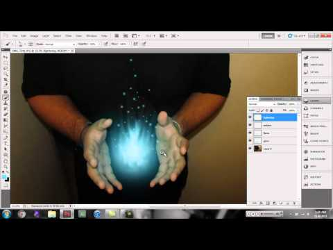 photoshop cs5 light energy ball.