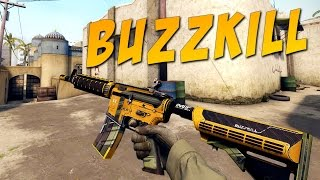 getlinkyoutube.com-CS:GO - M4A4 | Buzzkill Gameplay