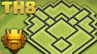 getlinkyoutube.com-CLASH OF CLANS - TOWN HALL 8 NEW TROPHY PUSHING BASE + Defence Replays