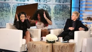 getlinkyoutube.com-Ellen Scares Nicki Minaj