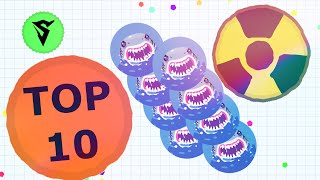 getlinkyoutube.com-TOP 10 WAYS TO TRICKSPLIT in Agario! // Agario Tricksplit Montage