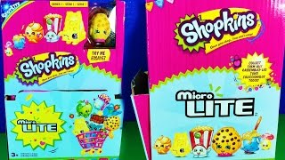 getlinkyoutube.com-Shopkins Micro LITE Blind Bags with Fluffy Baby and surprise micro lite shopkins toys