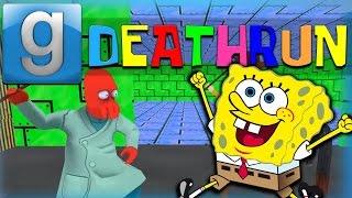 getlinkyoutube.com-Gmod Deathrun Funny Moments Spongebob Edition! Spongebob Dick, Krabby Patties of Death, and More!