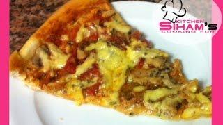 getlinkyoutube.com-طريقة تحضير الذ بيتزا بالصلصة السحرية (مثل المطاعم) pizza with a Delicious sauce recipe