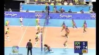 getlinkyoutube.com-BRASIL VS CUBA SIDNEY 2000 - SEMIFINAL VOLEY (5 set)