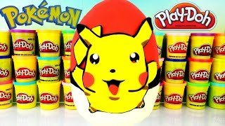getlinkyoutube.com-POKEMON PIKACHU Play Doh Surprise Egg! Blind Bags! Kidrobot Labbit! Marvel! Blind Boxes!