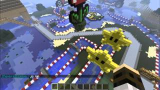 getlinkyoutube.com-Mario Kart Minecraft : Mineboat