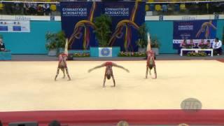 getlinkyoutube.com-RUSSIA Women's Groups - Balance Qualifications  -- 2014 Acrobatic Worlds, Levallois-Paris (FRA)