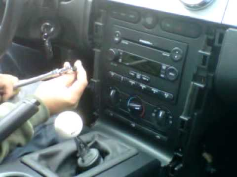 How to Remove Radio / CD Changer from 2006 Ford Mustang for Repair