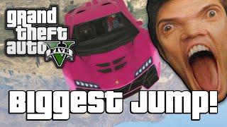 getlinkyoutube.com-GTA V: BIGGEST JUMP EVER!? (GTA 5 Online Funny Moments)