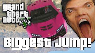 GTA V: BIGGEST JUMP EVER!? (GTA 5 Online Funny Moments)