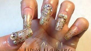 getlinkyoutube.com-TUTORIAL: Uñas Acrilicas Diseño Leopardo ♥