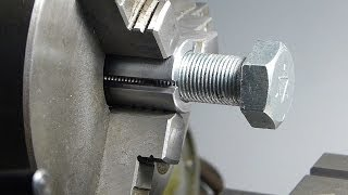 getlinkyoutube.com-Holding threaded items for machining in the metal lathe or mill