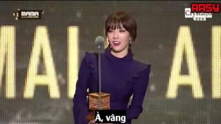 getlinkyoutube.com-161202 [Vietsub] Taeyeon speech Best Female Artist MAMA 2016