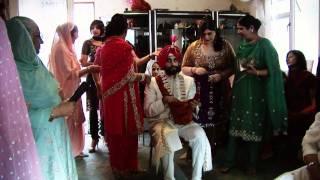 getlinkyoutube.com-Jess & Aminder - Sikh Wedding Groom Preparations