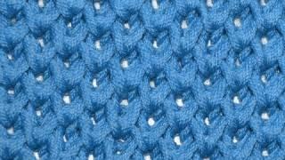 getlinkyoutube.com-How to Knit * Honeycomb Brioche Stitch * Knitting Stitches