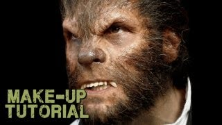 Werewolf Transformation Makeup , How to Apply Wolfman Prosthetics!