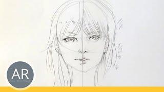 getlinkyoutube.com-Zeichnen lernen, Akadmie Ruhr, Tutorials, Portrait Zeichnen - Als manga oder realistische Zeichnung
