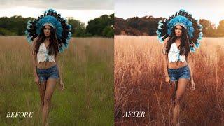 Photoshop CC Tutorial : Outdoor Portrait Editing 📷