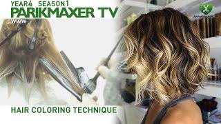 getlinkyoutube.com-Техника нанесения блондора. How to color hair in blonde парикмахер тв parikmaxer.tv