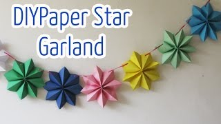 getlinkyoutube.com-Diy crafts : Paper stars garland - Ana | DIY Crafts