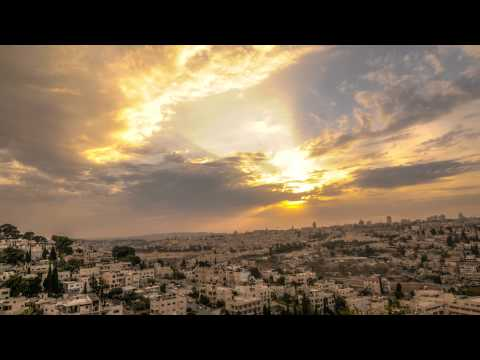 Cloudy sunset above Jerusalem