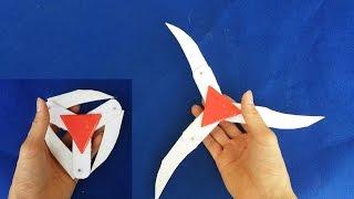 getlinkyoutube.com-Como hacer una estrella ninja de papel   Shuriken