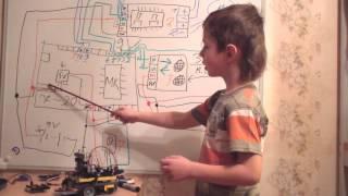 getlinkyoutube.com-Робот из Arduino или вторая жизнь коробки от тормозов Shimano