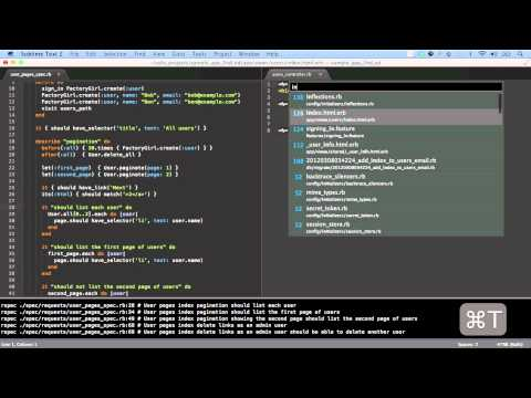 Using Sublime Text 2 with Ruby on Rails
