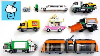 getlinkyoutube.com-learning street vehicles name and sound for kids with lego レゴ marvel animal characters