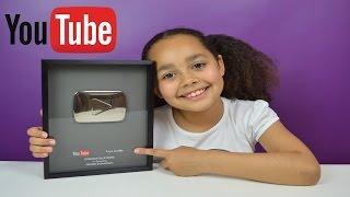 getlinkyoutube.com-100,000 Subscribers Youtube Silver Play Button Award | Toys AndMe