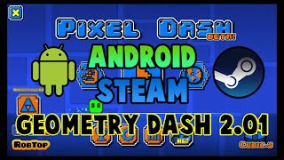 """getlinkyoutube.com-Texture pack """"PIXEL DASH"""" Android & Steam + Icon Kit   Geometry Dash 2.01"""