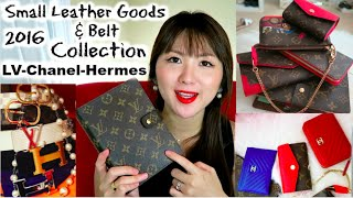 getlinkyoutube.com-2016 Small Leather Goods & Belt Collection (LV, Chanel and Hermes)