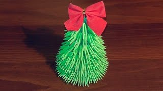 getlinkyoutube.com-3D origami Christmas tree tutorial