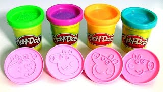 getlinkyoutube.com-Play Doh Peppa Pig Stampers Blind Bags Surprise - Super Massa Carimbos da Porquinha Peppa y Mamãe