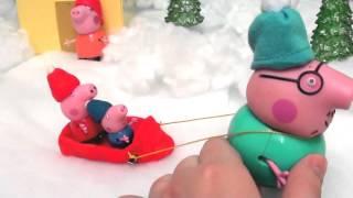 getlinkyoutube.com-Peppa Pig свинка Пеппа и ее семья. Мультфильм для детей. Веселые санки