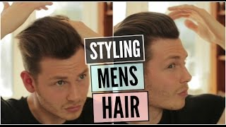 getlinkyoutube.com-Mens Hairstyle 2016 - How To Style Curly Wavy Hair Tutorial