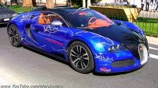 CHROME Blue Bugatti Veyron!