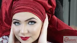 getlinkyoutube.com-HOW TO TIE NIGERIAN  PLEATED BRIDAL GELE(smal bridal gele )
