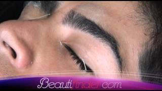 getlinkyoutube.com-Beauty Tips By Beautifinder.com *** Waxing Men's Eyebrows ***