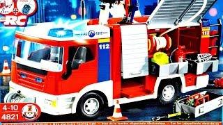getlinkyoutube.com-Fire Engine Construction Set / Wóz Strażacki - Playmobil - 4821 - Recenzja