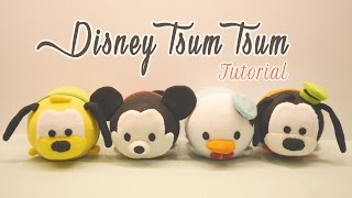 getlinkyoutube.com-DIY Disney Tsum Tsum Plushies - Mickey Mouse, Donald Duck, Goofy & Pluto (for Sweetorials Auditions)