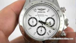 getlinkyoutube.com-Invicta Watches   Men's 9211 Speedway Collection Stainless Steel Chronograph Watch