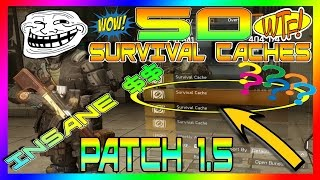 getlinkyoutube.com-OMFG! 50 SEALED SURVIVAL/GEAR/WEAPON Cache OPENED | The Division | INSANE $$$$ | Survival DLC 1.5