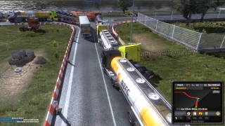 getlinkyoutube.com-Euro Truck Simulator 2 Multiplayer - Rotterdam Traffic Jam!