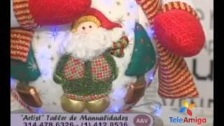 getlinkyoutube.com-Teleamiga Aprenda y venda Bombonera navideña - Reno navideño en pashwork sin aguja