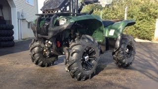 "getlinkyoutube.com-MMB-27"" Mega Mayehm tire install- Grizzly 700"