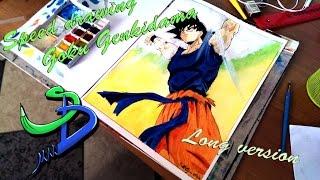 "getlinkyoutube.com-Speed drawing Goku Genkidama ""Long Version"""